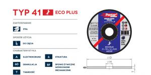 sciernica 41 eco 300x149 - Tarcza do cięcia 115x2,5x22 typ 41 (PENTAR)