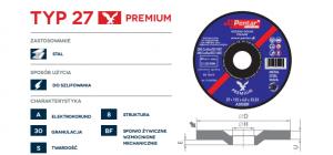 sciernica 27 premium  300x140 - Tarcza do szlifowania 125x6,0x22 typ 27 PREMIUM (PENTAR)