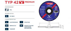 sciernica 42 premium 300x133 - Tarcza do cięcia 115x2,5x22 typ 42 Premium (PENTAR)